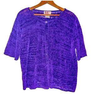 Vintage Knit Purple Cardigan